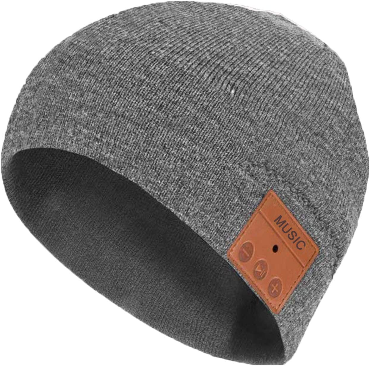 Bluetooth Beanie Hat Headphone Winter Knit Cap with Stereo Speaker Mic for Outdoor Sports