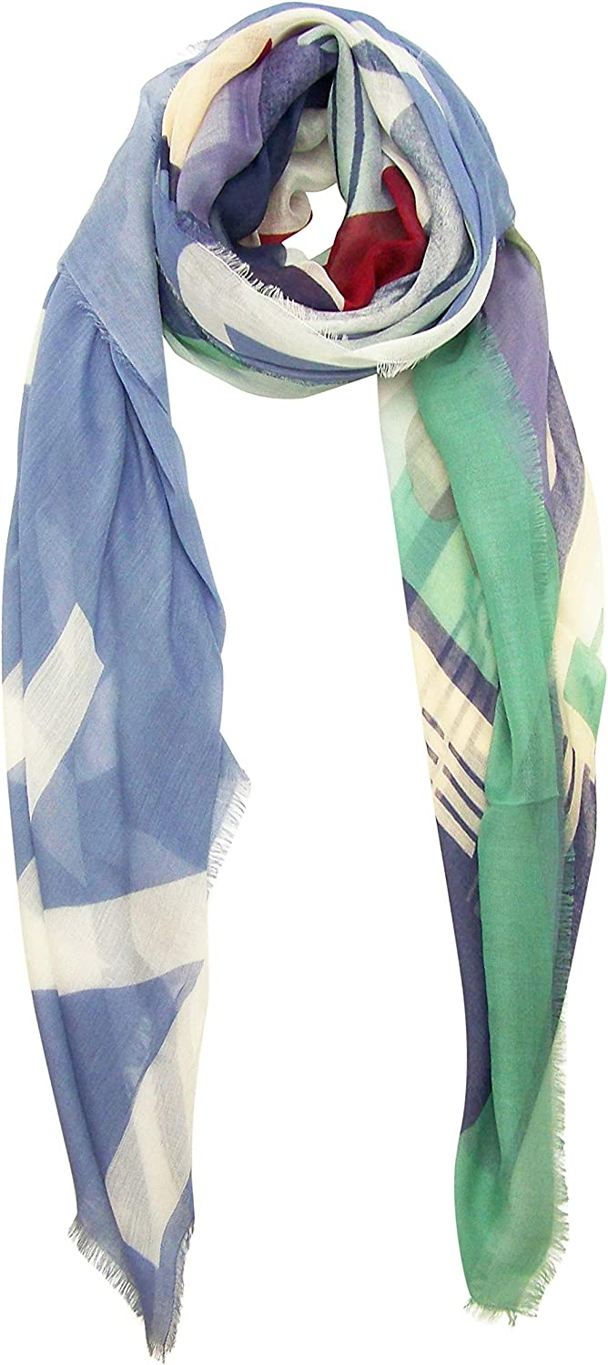 bluee Pacific Vintage Locale London Cashmere and Silk Scarf