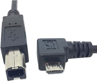 jser acodado hacia la izquierda 90Degree Micro USB OTG a estándar Tipo B impresora escáner cable de disco duro 60cm