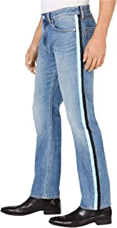 Calvin Klein Mens 36X32 Side Stripe Straight Leg Jeans