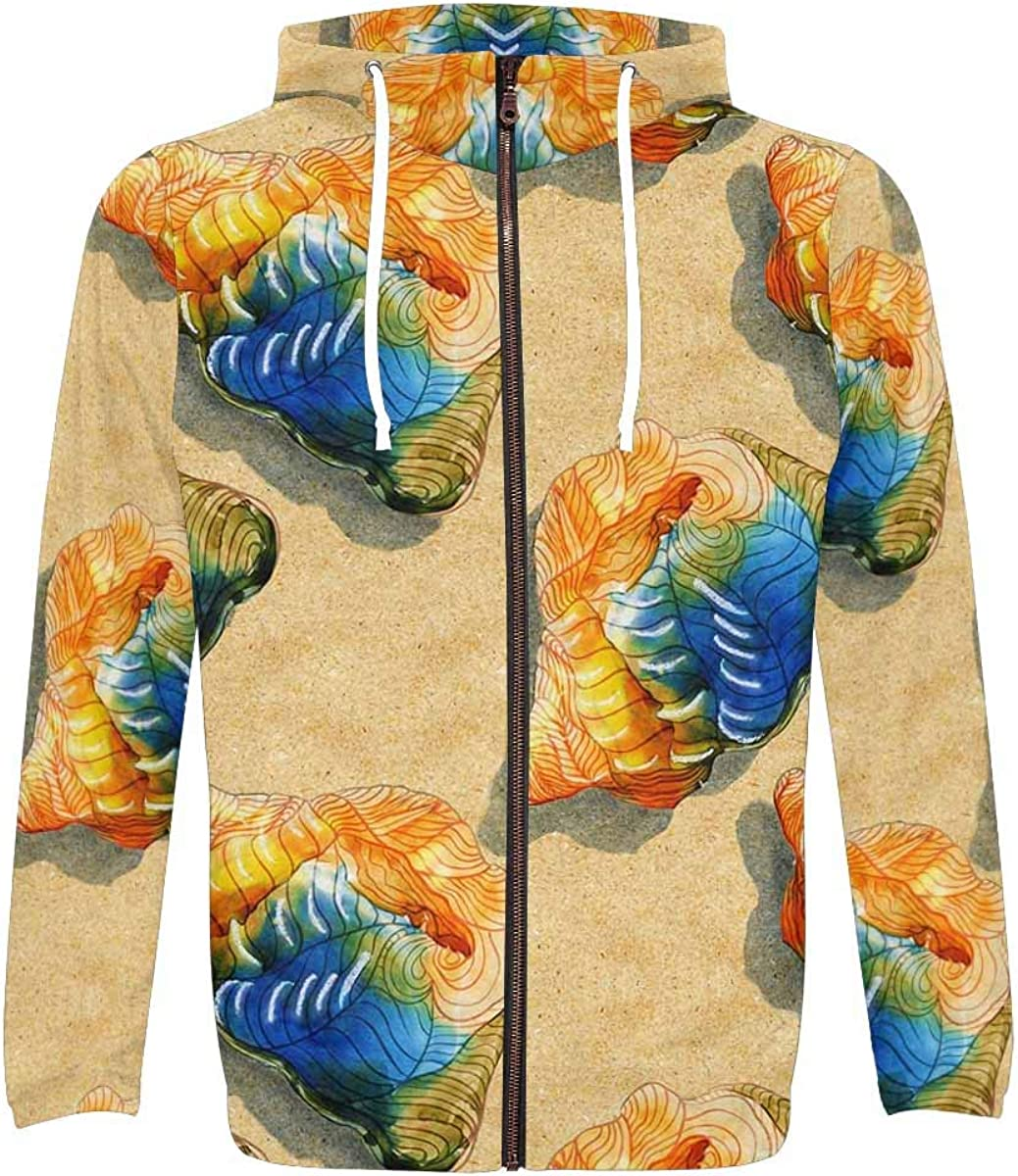 INTERESTPRINT Casual All Over List price Print and Zippe with Pocket Minneapolis Mall Hoodie