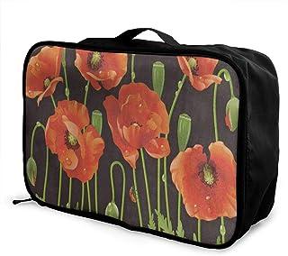 Luggage Bag Travel Duffel Bag Waterproof Watercolor Butterfly Floral Bird Lightweight Large Capacity Portable Storage Bag