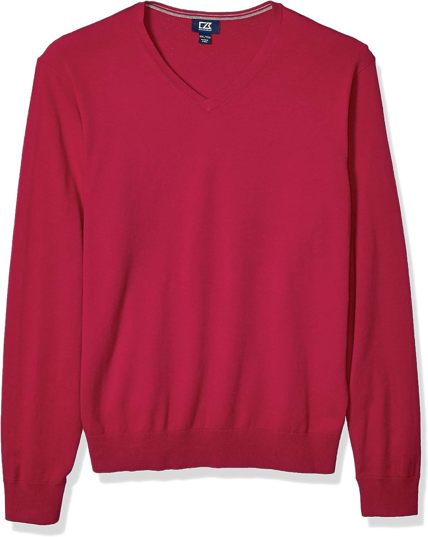 Cutter Buck Men's Cotton-Rich Lakemont Anti-Pilling Classic National uniform Minneapolis Mall free shipping V-
