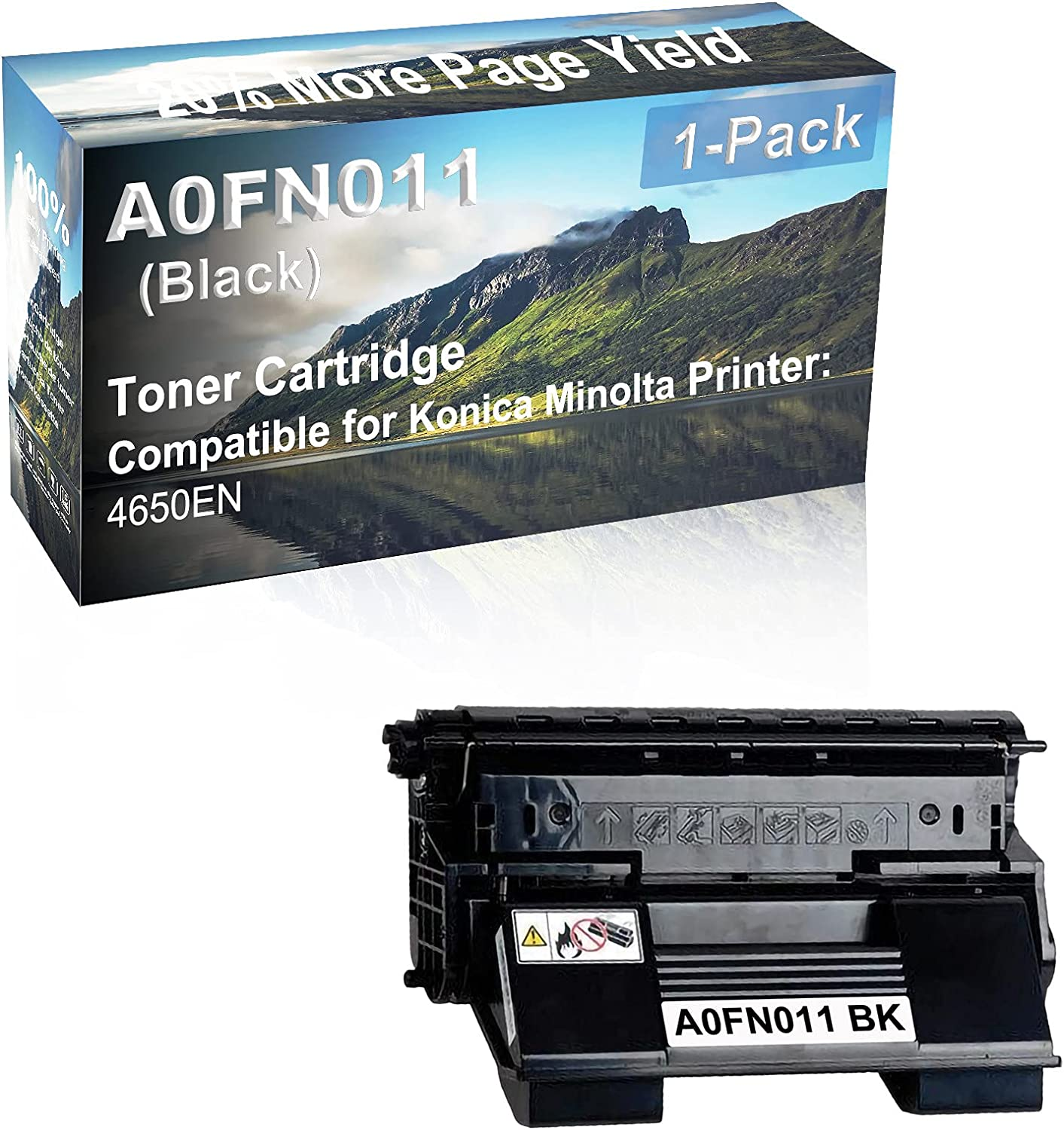 1-Pack Compatible High Capacity A0FN011 Toner Cartridge use for Konica Minolta PagePro 4650EN Printer (Black)