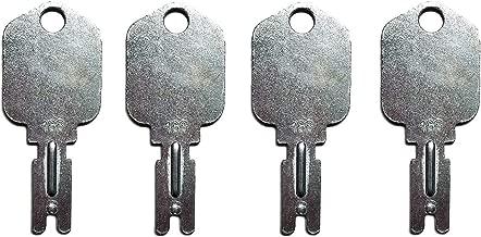 Notonmek Forklift Key 1430 & 166 Switch Sets for Caterpillar 6T-2663 Generic 166 KM366P Clark Yale Hyster Komatsu Gradall Gehl Crown Forklift Ignition Switch(4 Keys)