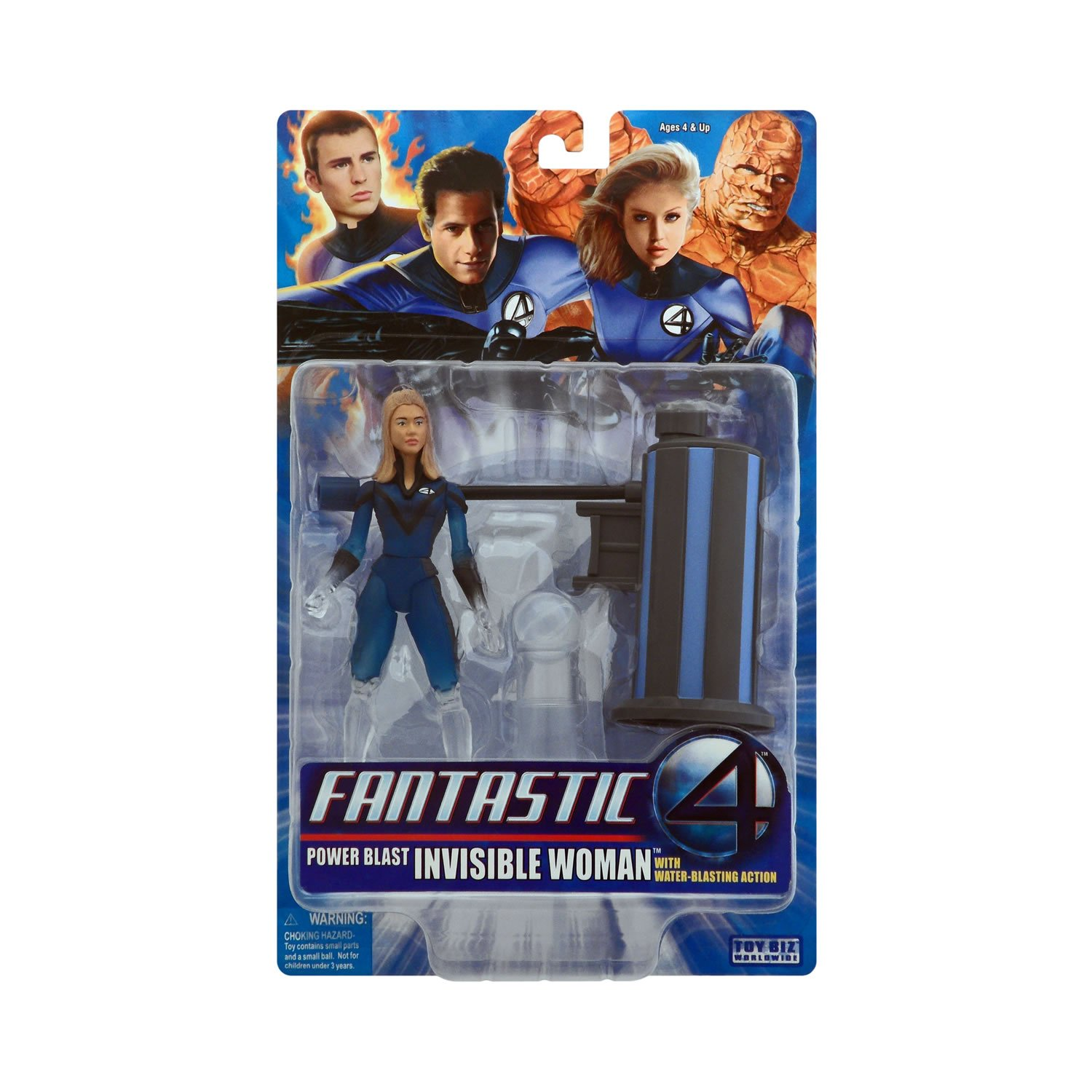 Marvel Fantastic 4 Movie Invisible Woman Figure Variant - (1/2 Color Phasing) Power Blast