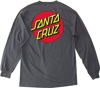 Santa Cruz Mens Classic Dot Regular Long-Sleeve Shirt Medium Charcoal Heather