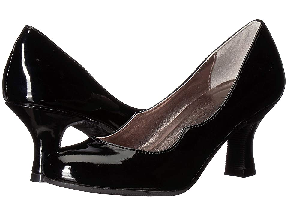 Image of Amiana 15-A5477 (Little Kid/Big Kid/Adult) (Black Patent PU) Girl's Shoes