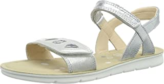Clarks Girl's MimoMagic Jnr Silver Leather Clogs
