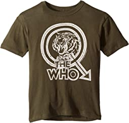 Extra Soft The Who Tiger Print Cotton Short Sleeve Tee (Little Kids/Big Kids)