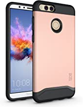 Honor 7X / Mate SE Case, TUDIA Slim-Fit HEAVY DUTY [MERGE] EXTREME Protection / Rugged but Slim Dual Layer Case for Huawei Honor 7X / Mate SE (Rose Gold)