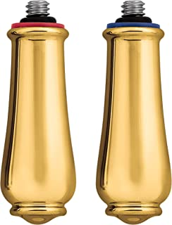 Moen 97558 Monticello Replacement Handle Knob Insert, Polished Brass (2-Pack)