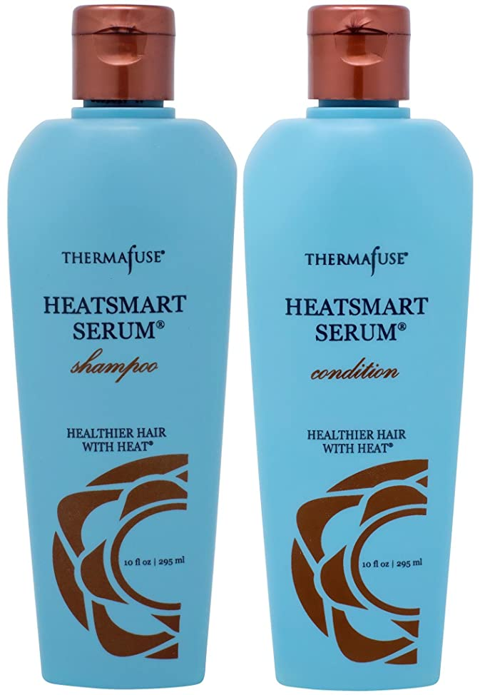 Thermafuse HeatSmart SERUM Shampoo & Conditioner Duo (10 oz) Sulfate Free, Color Safe, No Sodium Chloride, Hydrating, Moisturizing, Essential Oil, Amino Acids Helps to Repair Damaged Hair