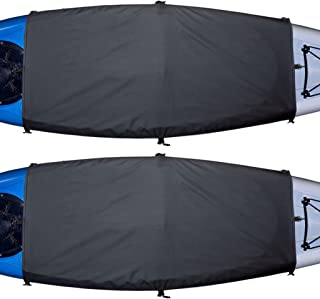 Explore Land Universal Kayak Cockpit Drape Waterproof Seal Cockpit Cover for Indoor and Outdoor (2 Pack)