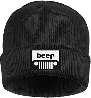 Unisex Knit Hats Beer Jeep Funny Drinking Thick Soft Winter Warm Slouchy  Beanie Wool Caps for 5b82a3e5863