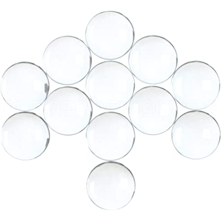 LOT de 4 ou 10 Cabochons ronds dômes 18mm x 5mm 18x5mm Verre Transparent