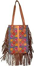 Boho Leather Fringe Tassel Tote Shoulder Bag Travel Roomy Casual Everyday School Laptop Hippie