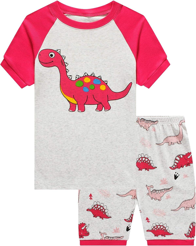 Boys Sleepwears girls Long Sleeve Pajama sets 100% Cotton Pjs Size 16