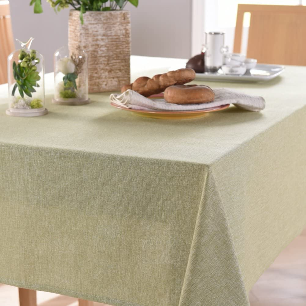 fgdjtyyj Solid Color Limited time cheap sale Round tablecloths Linen European Cotton wea Boston Mall