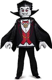 Disguise Lego Vampire Deluxe Costume, Black, Medium (7-8)