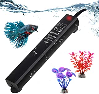 SZELAM Smart Mini Aquarium Heater,Betta Fish Tank Heater Thermostat Warmer Submersible Anti-Explosion/Energy-efficient Water Temp Controller-2 Artificial Plants Include
