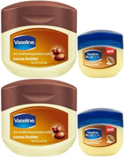 Vaseline Petroleum Jelly, Cocoa Butter, 7.5 Ounce [With Bonus 1.7 Ounce] (Pack of 2)