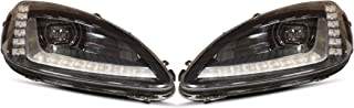 XB LED Headlights: 2005-2013 Chevy Corvette Bi-LED Headlights (Black/Set)