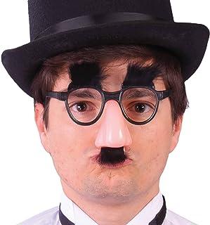 Rudy groucho marx gafas de nariz, Color Negro y Rosa, 3984