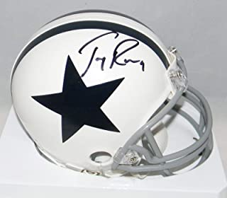 Signed Tony Romo Mini Helmet - White - JSA Certified - Autographed NFL Mini Helmets