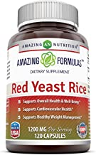 Amazing Nutrition Red Yeast Rice 1200mg Per Serving Capsules