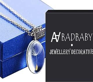 dandelion glass pendant