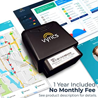 GPS Tracker for Vehicles Vyncs No Monthly Fee Real Time Tracker 1 Yr Data Plan USA+Global SIM Car Truck Tracker OBD Trips, Driver Alert, Engine Data. Teens Seniors Family Fleet. Alexa. Actvn Fee Reqd