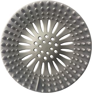 WEYNG Rubber Sink Strainer Filter Basket Floor Drain Protector Hair Catcher Stopper for Bathroom Kitchen 5.1 Inch Dia W-412
