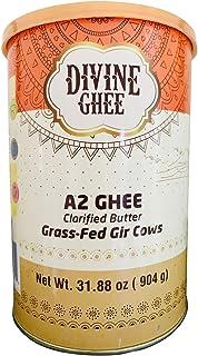 Original A2 Gir Cow ghee, Grass-fed, Pasture Raised 31.88 oz (904g) - made from A2 Milk, Lactose & Casein free, Non GMO, K...