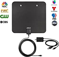 HDTV Antenna, Indoor Digital TV Antenna 60 Mile Range with Amplifier Signal Booster and 10Ft Coaxial Cable, Support 4K 1080P for All Types of Smart Television