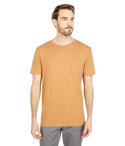 RVCA Solo Label Short Sleeve T-Shirt (Camel) Men