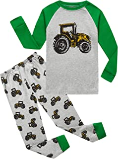 Truck Little Boys Kids Pajamas Sets 100% Cotton Pjs Toddler
