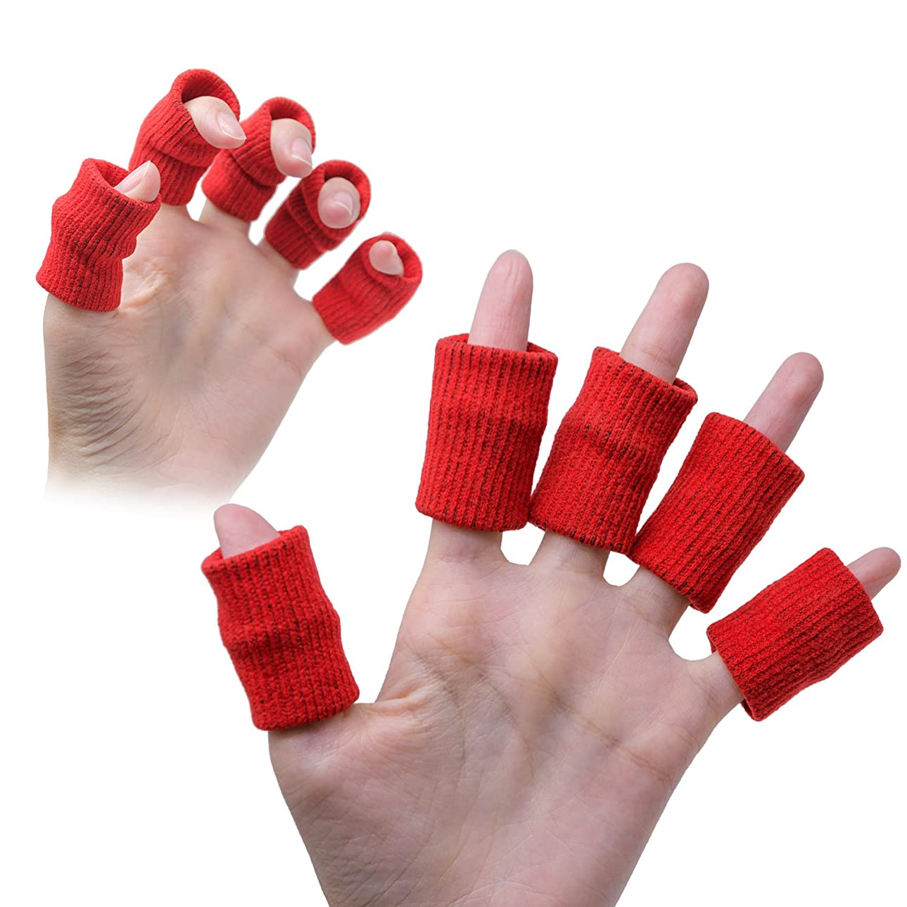 電話をかける免除する海里Sumifun 親指プロテクター 足指チューブ ? ゲルプロテクター ケア指スリーブ&指先保護は関節炎、硬さ、痛みを緩和する