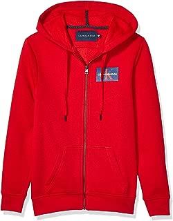 Men's Monogram Logo Full-Zip Hooded Sweatshirt