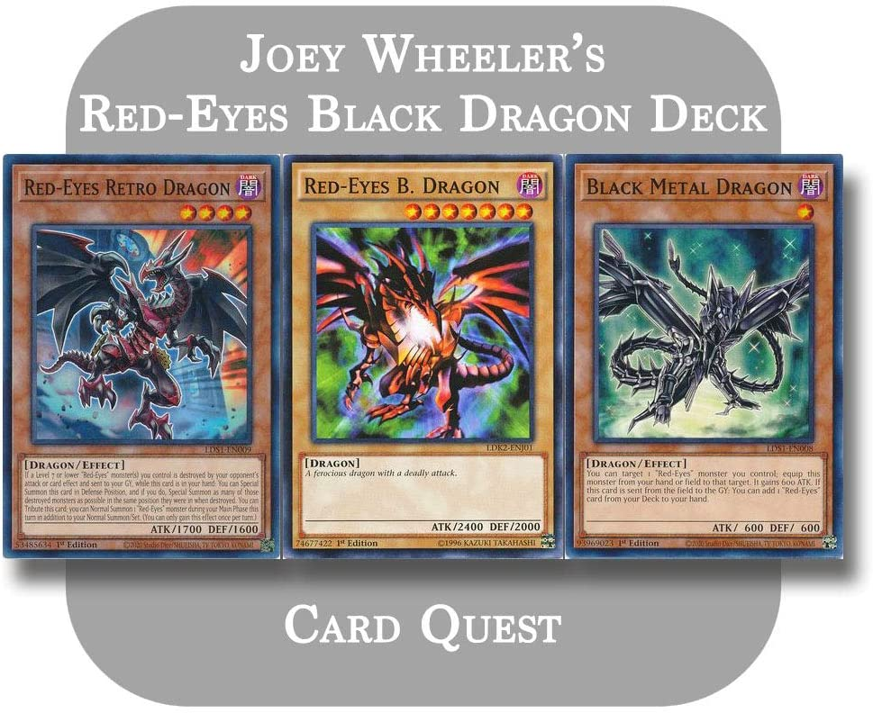 Yu-Gi-Oh - Joey Wheeler's Import Complete Black Fusion Red-Eyes Dragon Free shipping New