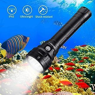 Wurkkos 5000 Lumen Dive Flashlight, Bright Scuba Diving Light Features 4 Samsung LH351D, Depth 492ft Underwater Torch Ligh...