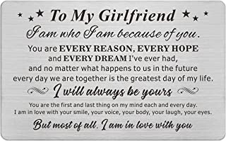 Girlfriend Gifts, Reasons Why I Love You Girlfriend Gift, Engraved Wallet Card for My Girl, Birthday Valentines Anniversary