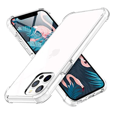 MILPROX Compatible with iPhone 12 Pro Max Case (2020),Clear Transparent Shockproof Shell Protective Heavy Duty Bumper Cover Anti-Yellow Cases - White