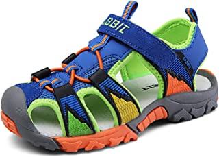 5f59091c752f Bigcount Boys Girls Outdoor Sport Closed-Toe Sandals Kids Breathable Mesh Water  Athletic Sandals Shoes