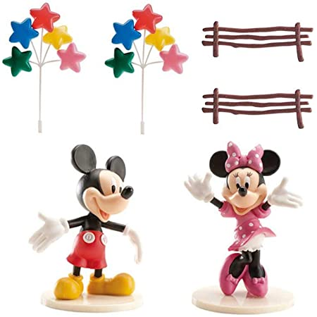 dekora Kit de Decoración Torta Mickey y Minnie, Multicolor, Talla Única