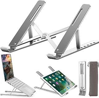 Laptopstativ, uppgradera höghållfast aluminium halkfri datorhållare laptop stigare, ergonomisk 6 nivåer justerbar ventiler...