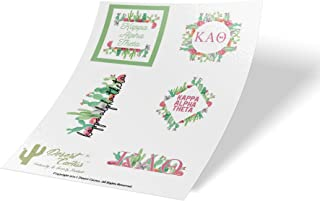 Kappa Alpha Theta Sorority Cactus Full Sheet Sticker Vinyl Decal Laptop Water Bottle Car Scrapbook Theta (Sheet - Cactus)