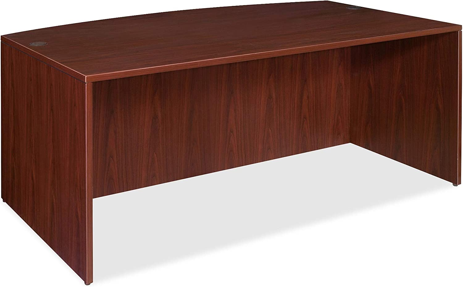 Lorell Bow Front Desk Shell Limited time for free shipping 72 by 2-Inch All items in the store Mahogany 29-1 36