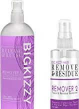 Big Kizzy Remover 1 + Remover 2 bundle, Two Step System Tested & Proven Fastest & Easiest Tape In Extension Adhesive and R...