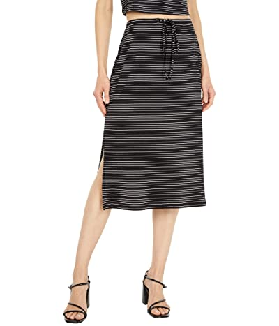 1.STATE Side Slit Front Tie Skirt